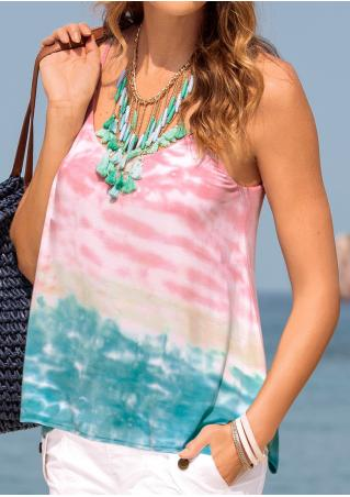 Tie Dye Printed Fashion Camisole Without Necklace