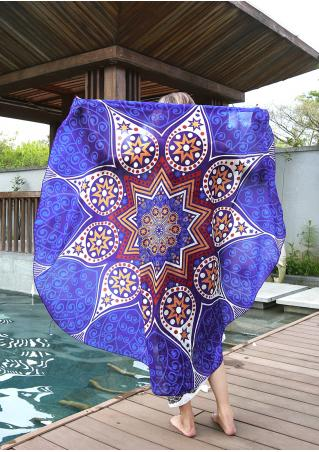 Mandala Pattern Round Blanket