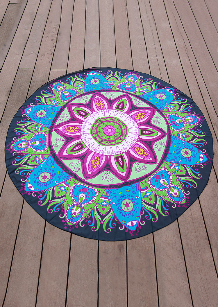 Mandala Pattern Round Blanket Fairyseason