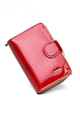 Solid Hasp Leather Clutch Wallet
