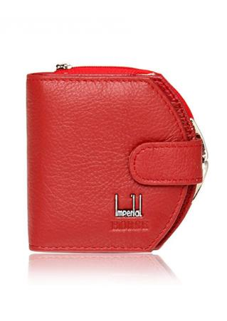 Leather Hasp Mini Clutch Wallet Leather