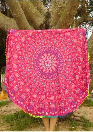 Mandala Paisley Round Blanket