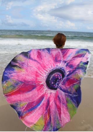 Multicolor Printed Round Beach Blanket Brandless