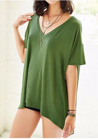 Chiffon Splicing Irregular Fashion Blouse Without Necklace Chiffon