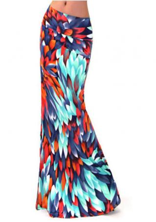 Multicolor Printed Fashion Long Skirt Brandless