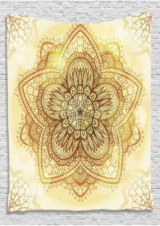 Mandala Square Tapestry