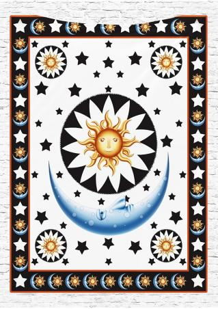 Star Moon Printed Rectangle Tapestry
