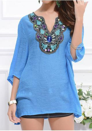 Embroidery Plus Size Fashion Blouse