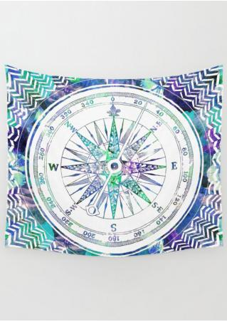 Compass Printed Rectangle Tapestry
