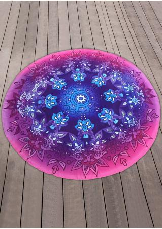 Multicolor Round Blanket