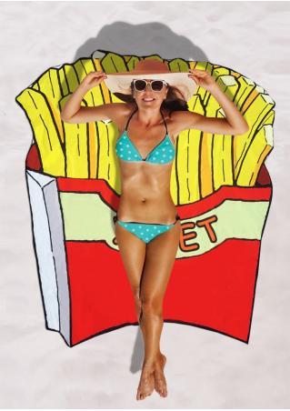 Chips Printed Irregular Beach Blanket