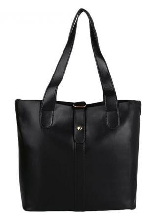Solid Leather Fashion Unisex Handbag Solid