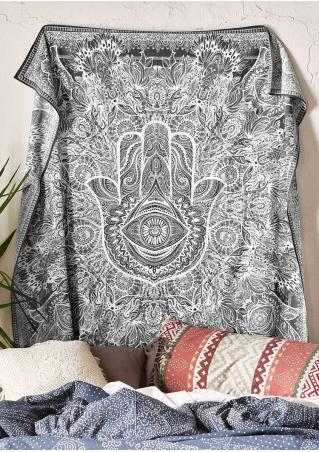 Mandala Hand Printed Rectangle Tapestry