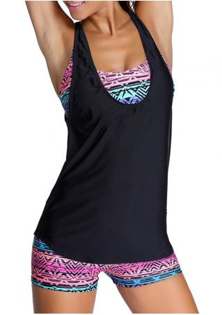 Printed Three-Piece Tankini