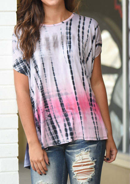 Tie dye printed casual t shirt fairyseason for Tie dye printed shirts