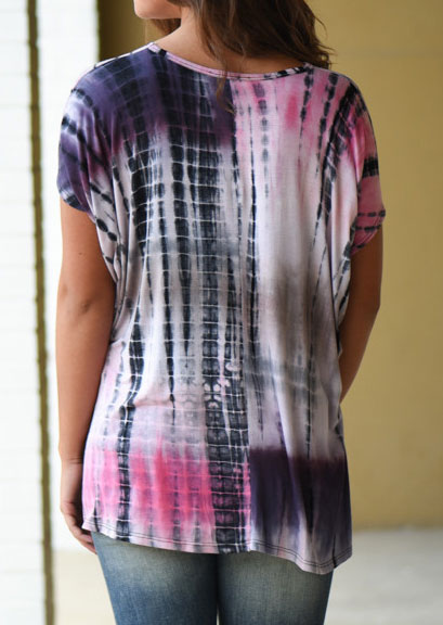 Tie Dye Printed Casual T Shirt Fairyseason