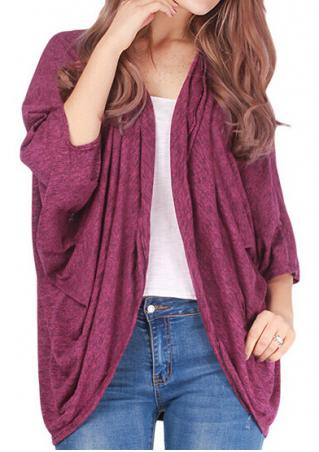 Batwing Sleeve Loose Casual Cardigan