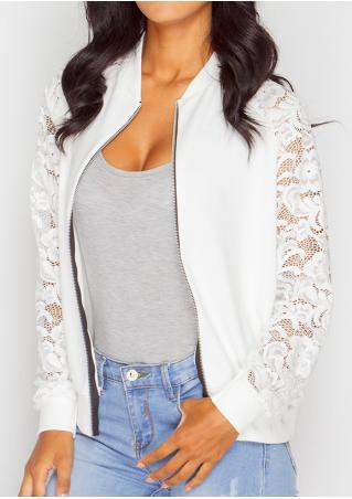 Solid Lace Splicing Jacket
