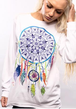 Multicolor Dream Catcher Printed T-Shirt
