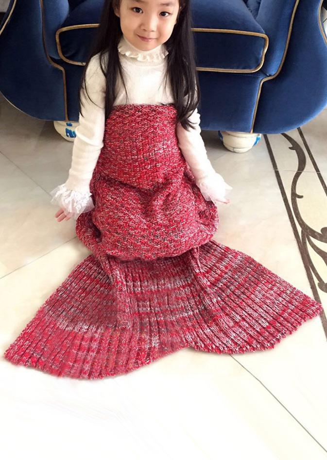 Crochet Mermaid Tail Design Blanket For Kid