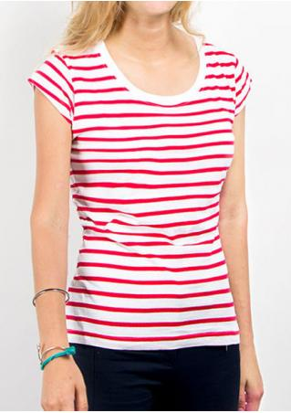Striped O-Neck Casual T-Shirt