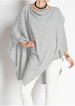 Asymmetric Loose Layered Blouse Without Necklace