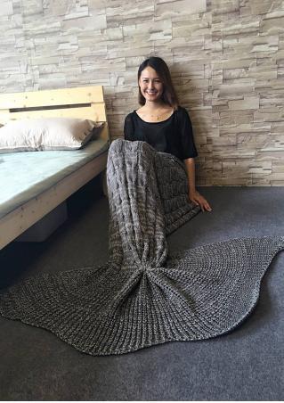 Crochet Mermaid Tail Design Blanket