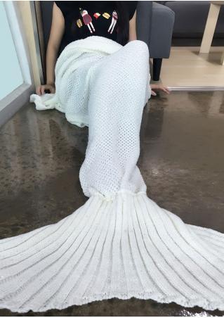 Sequined Embellished Mermaid Tail Blanket