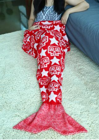 Christmas Star Mermaid Tail Blanket