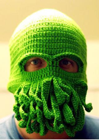 Cthulhu Crochet Ski Mask Hat