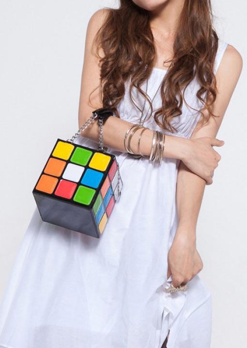 rubiks cube hand bag fairyseason. Black Bedroom Furniture Sets. Home Design Ideas
