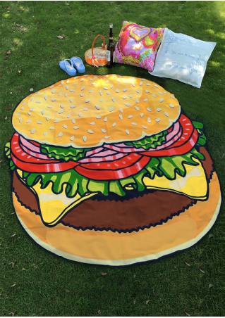 Hamburger Printed Picnic Blanket