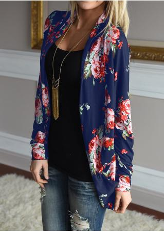 Floral Cardigan Without Necklace
