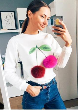 Cherry Printed Long Sleeve T-Shirt
