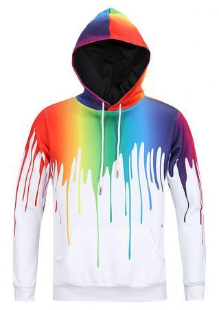 Tie Dye Printed Casual Hoodie