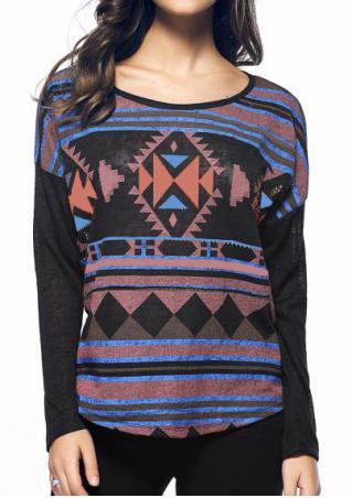 Geometric Zipper Knitted T-Shirt