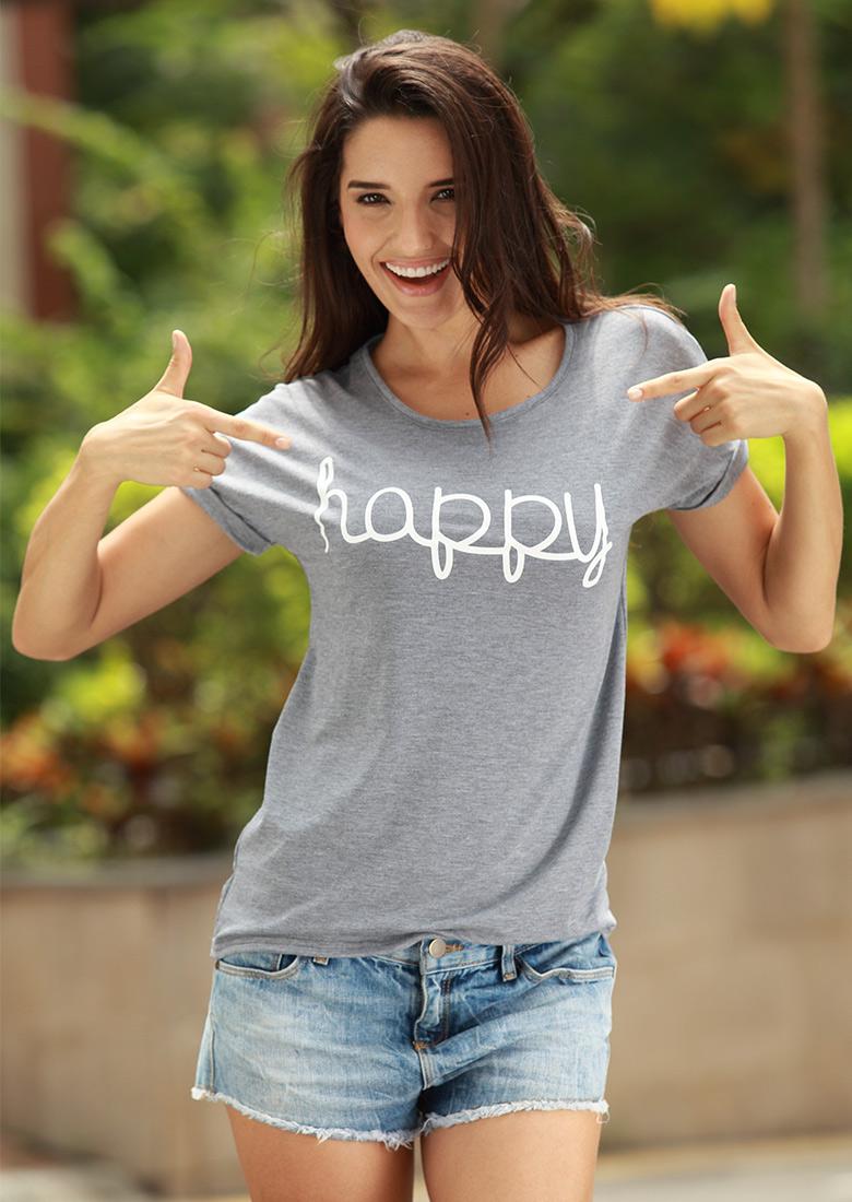 Tricou de damă, casual, din poliester, model slim fit, cu imprimeu grafic