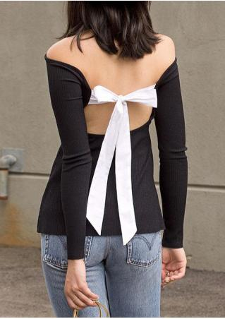 Back Bow Off Shoulder Blouse