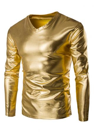 Shiny PU Leather T-Shirt