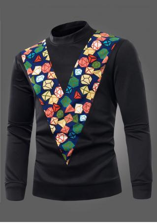 V-Shape Printed Slim Sweatshirt