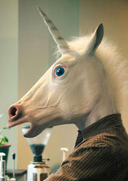Creepy Unicorn Halloween Costume Mask Fairyseason