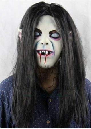 Scary Long Hair SADAKO Ghost Halloween Mask Scary