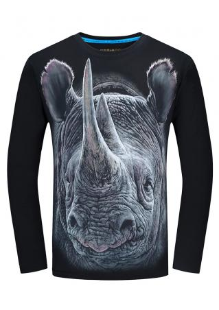 Rhino Printed T-Shirt