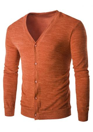 Solid Front Button Cardigan