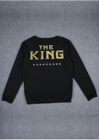 The King Printed Couple Sweatshirt