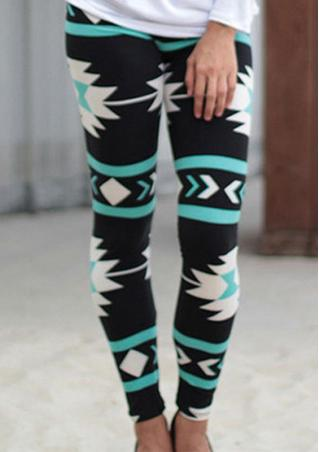 Printed Stretchy Slim Long Leggings