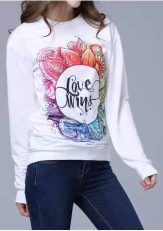 Multicolor Printed Sweatshirt