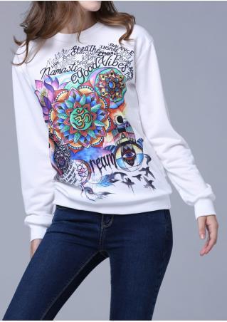 Multicolor Printed Casual Sweatshirt