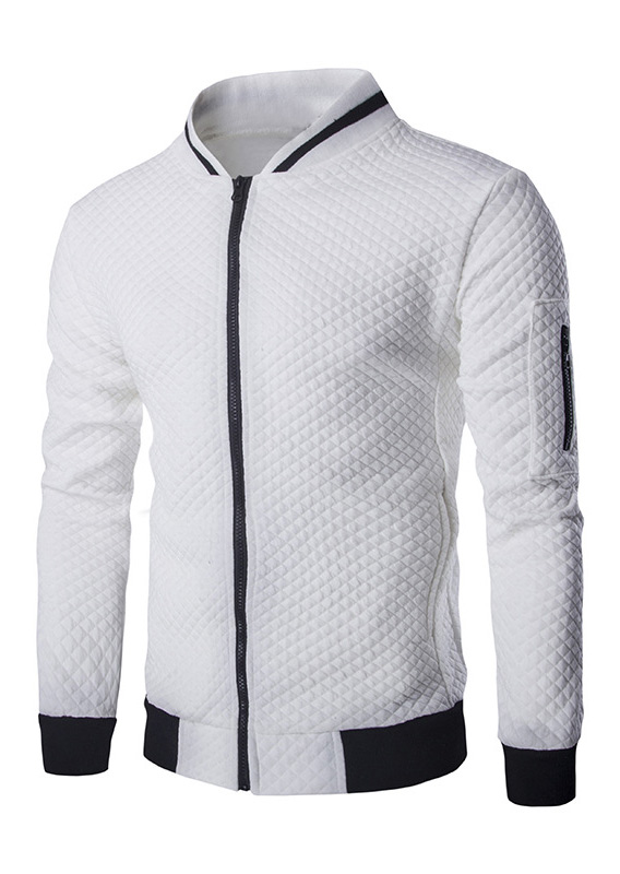 Color Block Splicing Zipper Jacket thumbnail