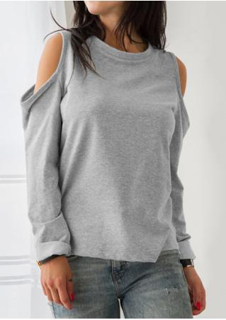 Solid Off Shoulder O-Neck Stylish Blouse